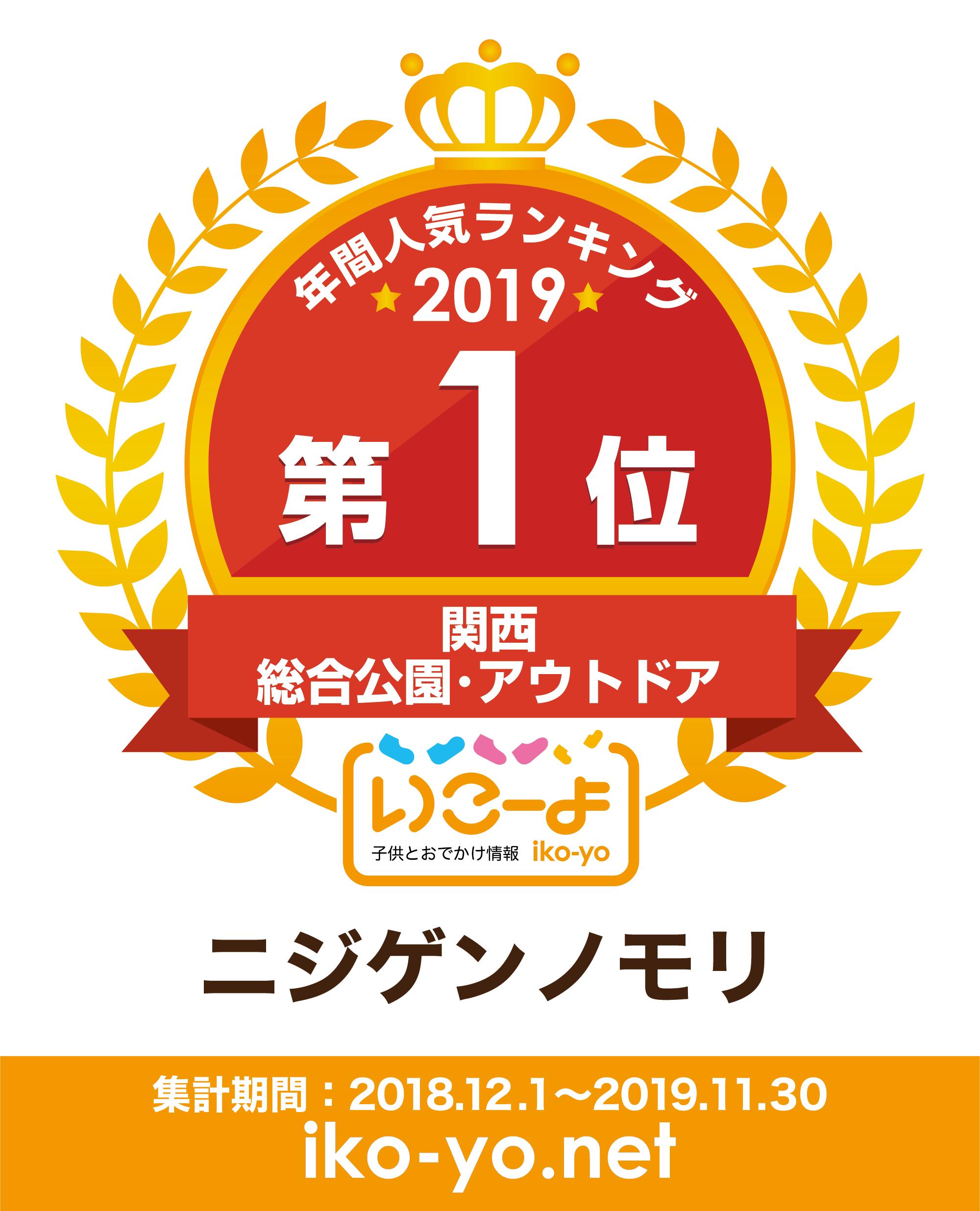 年間人気ランキング2019 第1位 関西 総合公園・アウトドア